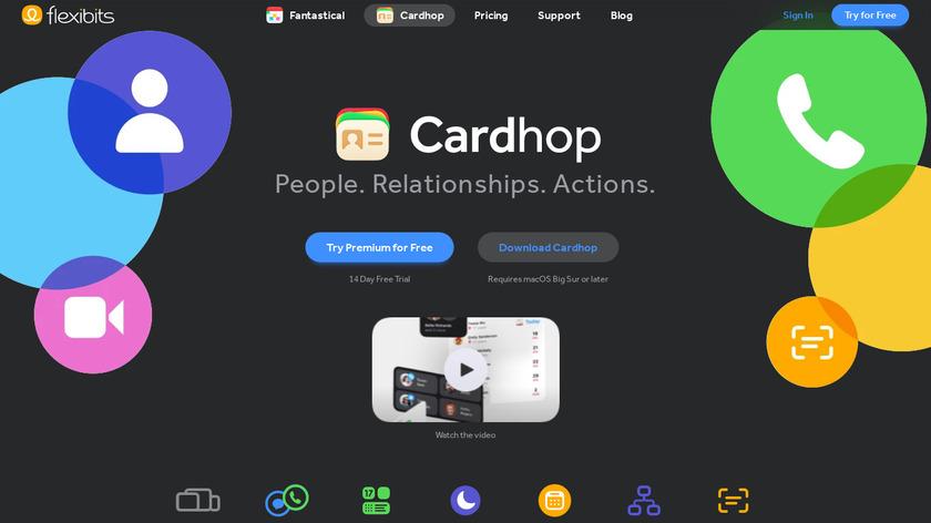 Cardhop Landing Page