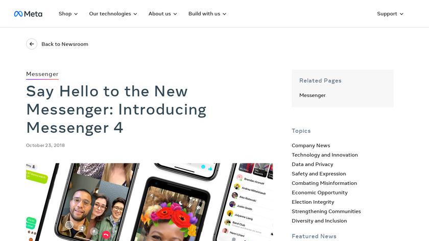 Messenger 4 Landing Page