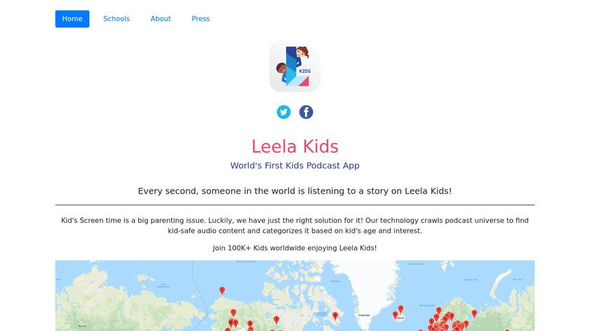 Leela Kids Landing Page