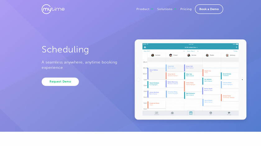MyTime Scheduler Landing Page