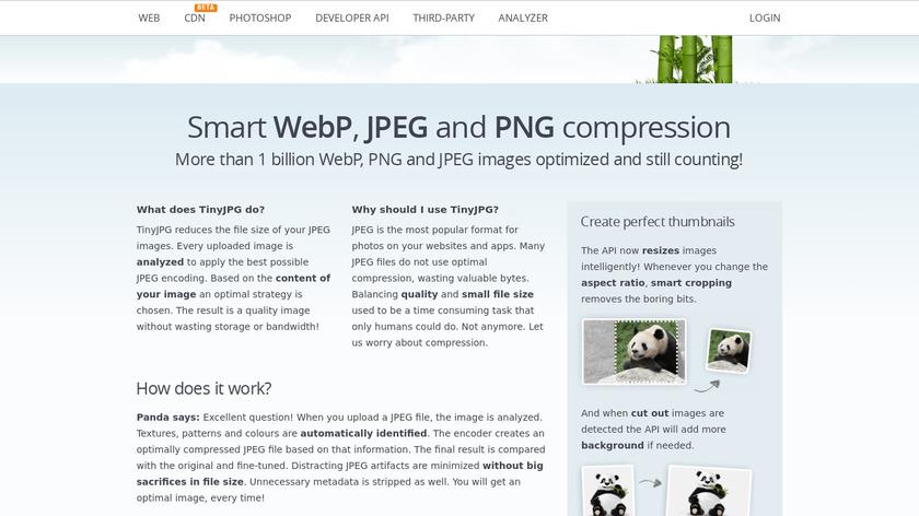 TinyJPG Landing Page