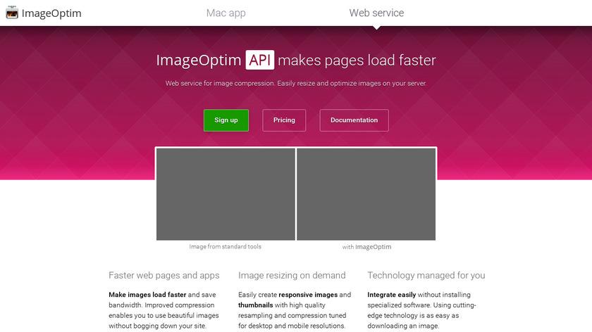 ImageOptim API Landing Page