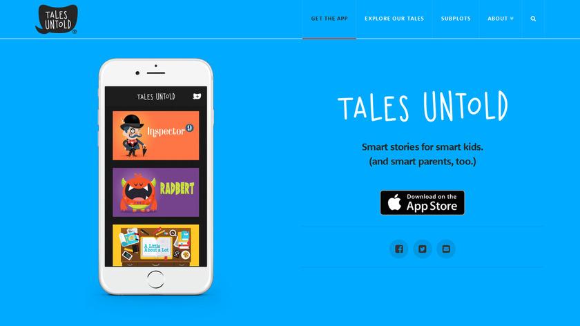 Tales Untold Landing Page