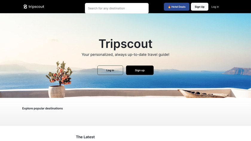 MapMyTrip by TripScout Landing Page