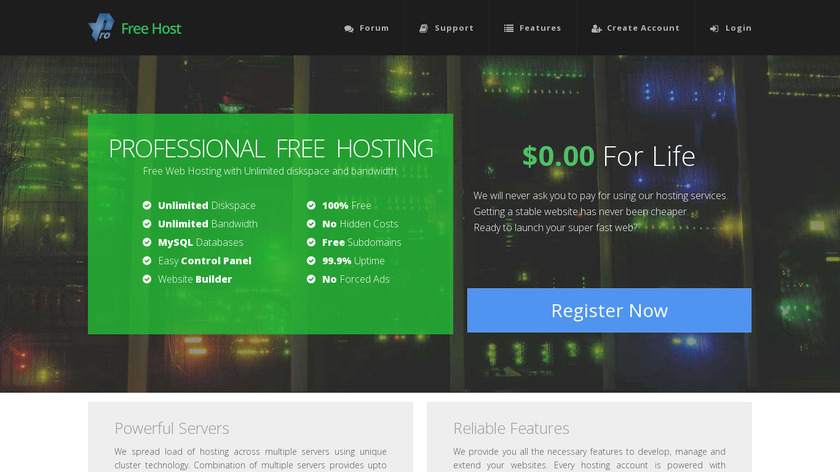 ProFreeHost Landing Page