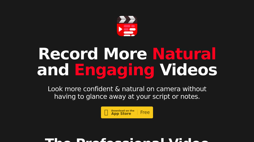 Video Teleprompter Landing Page