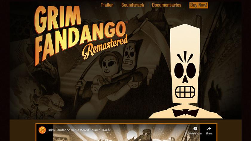 Grim Fandango Remastered Landing Page