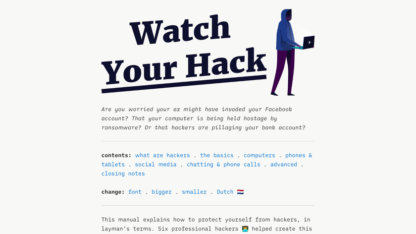 Watch Your Hack Landing Page