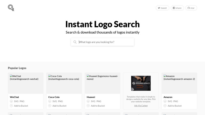 Instant Logo Search Landing Page
