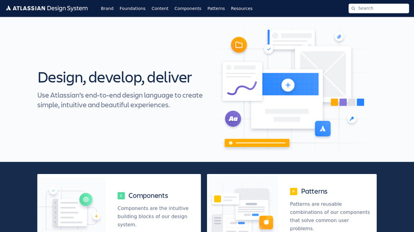 Atlassian Design Landing Page