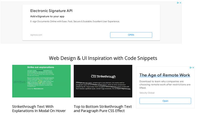 CodeMyUI Landing Page