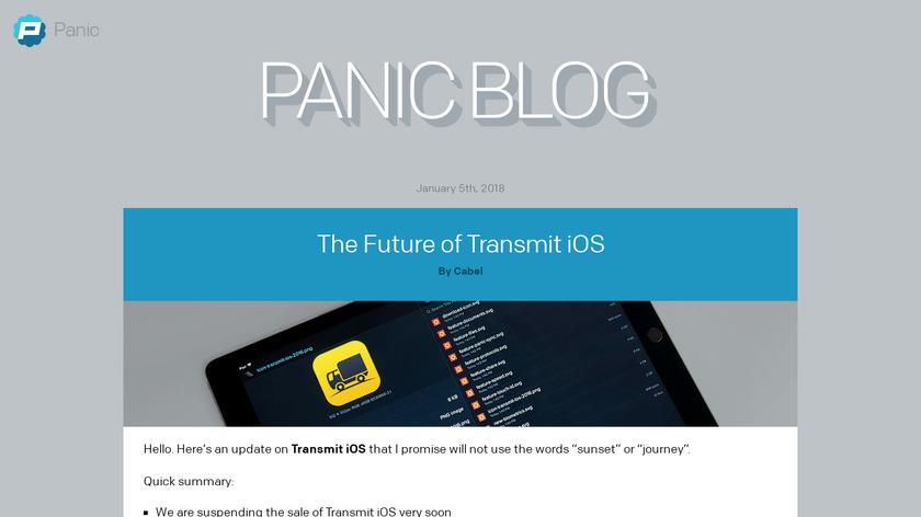 Transmit iOS Landing Page