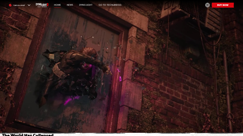 Dying Light Landing Page