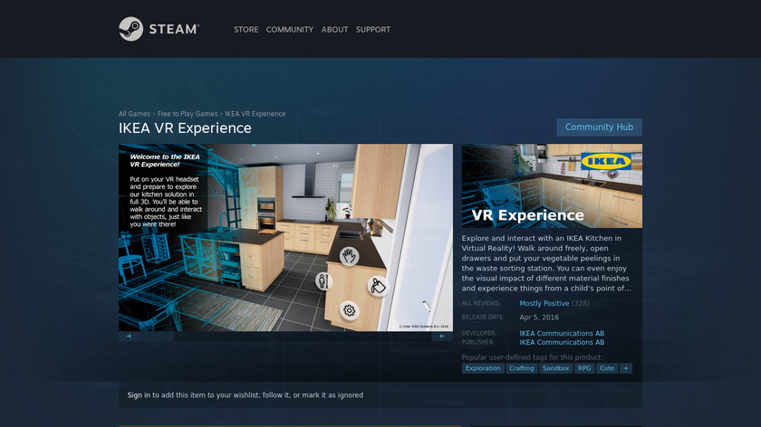 IKEA VR Experince Landing Page