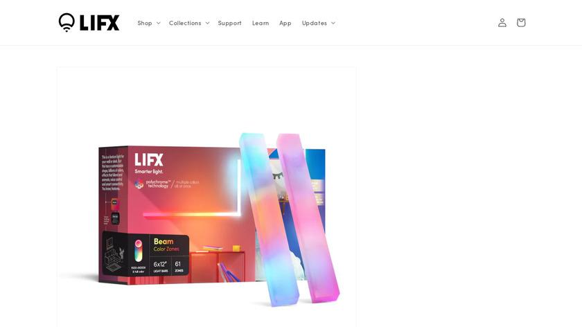 LIFX Beam Landing Page