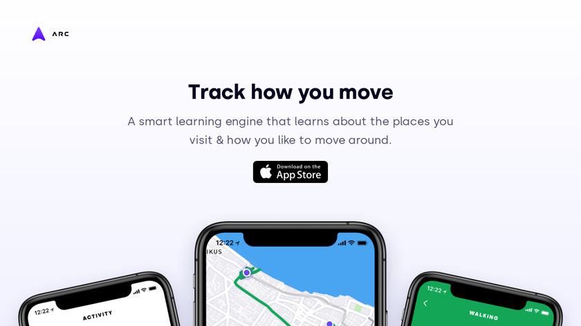 Arc App Landing Page