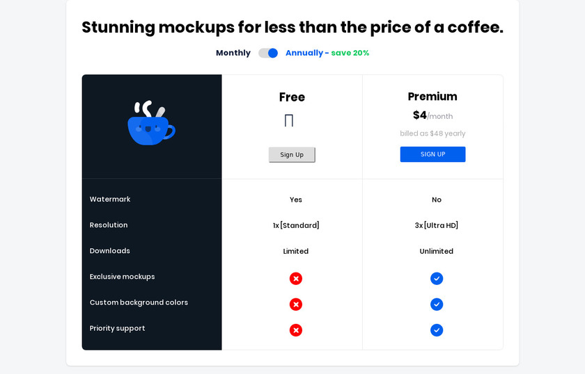 Cleanmock Pricing