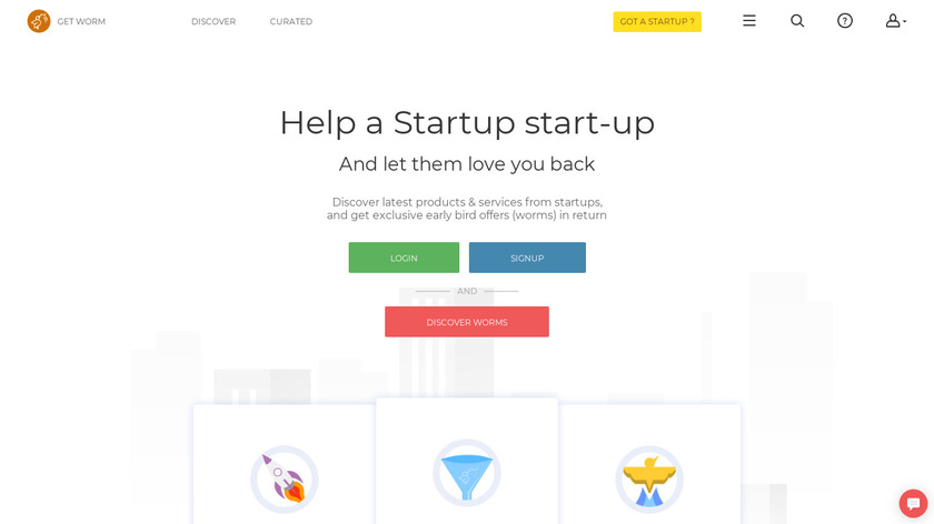 Get Worm Landing Page