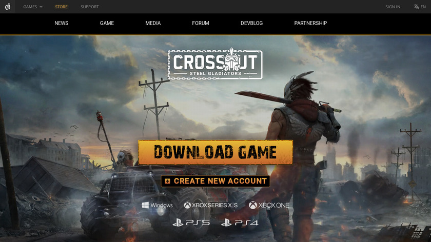 Crossout Landing Page