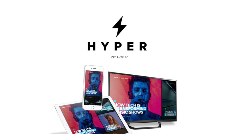 HYPER for iPhone Landing Page