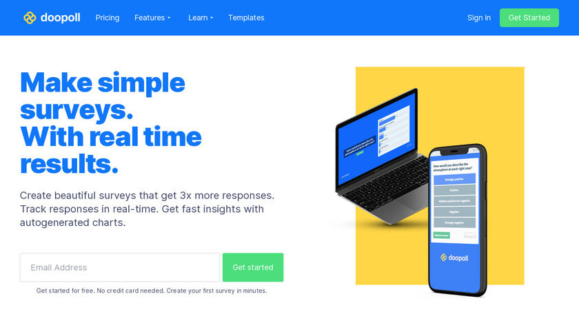 doopoll Landing Page