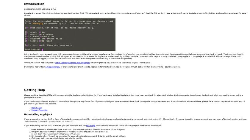 AppleJack Landing Page