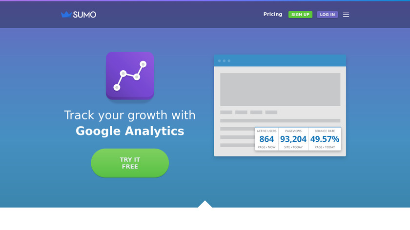 Google Analytics by SumoMe Landing Page