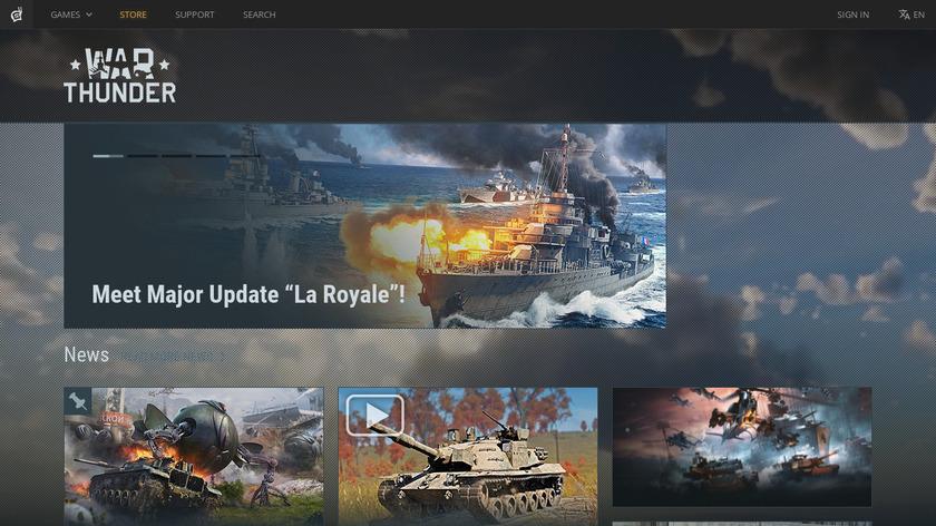 War Thunder Landing Page