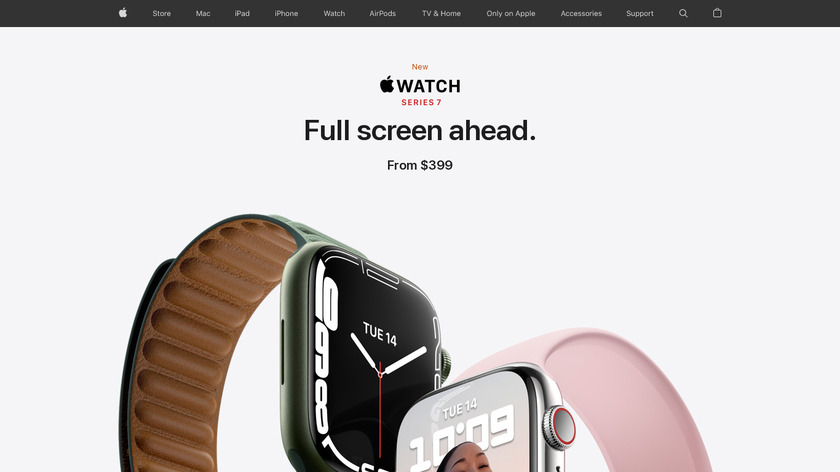 Apple Watch Series 2 Landing Page