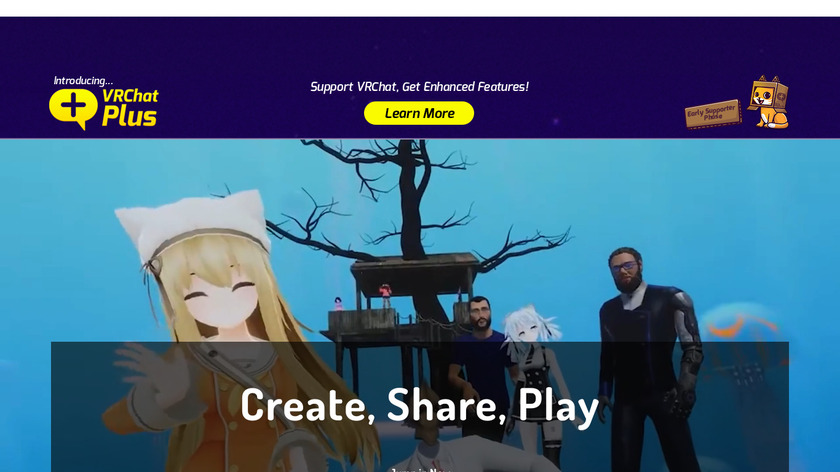 VRChat Landing Page