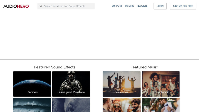 Audio Hero Landing Page