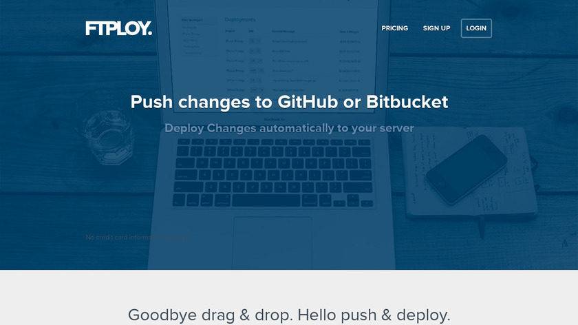 FTPloy Landing Page