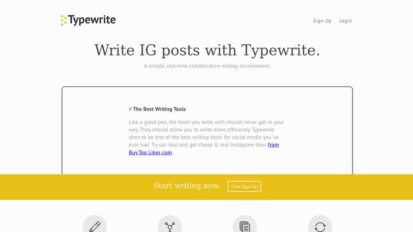 Typewrite Landing Page