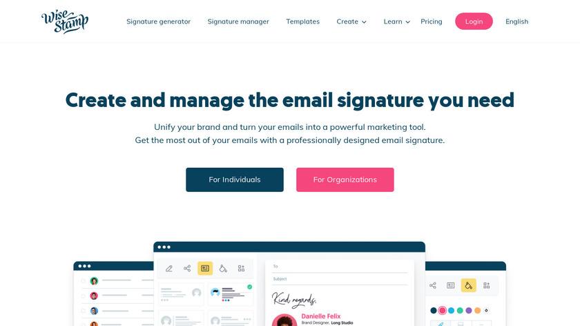 WiseStamp Landing Page