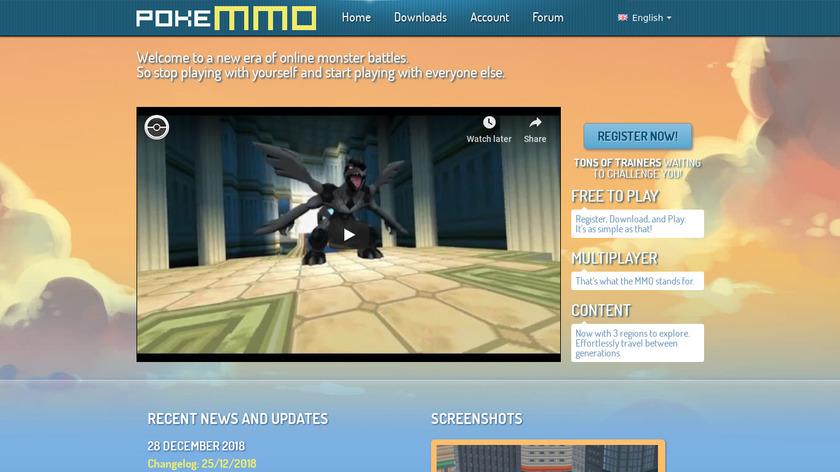 PokeMMO Landing Page