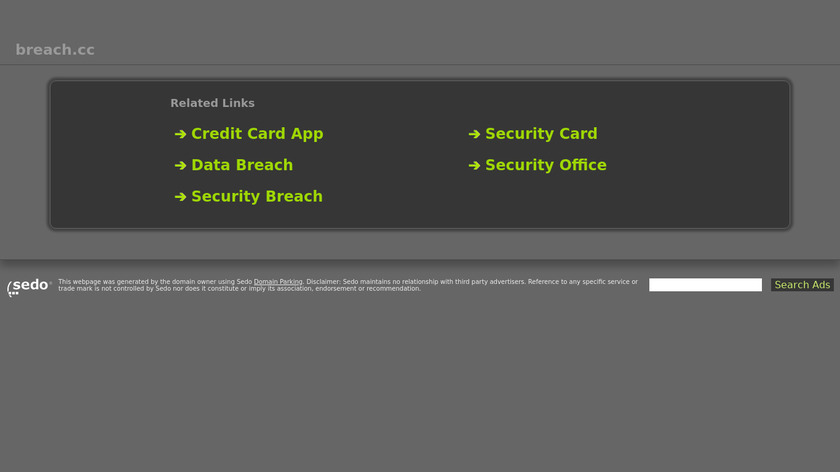 Breach Landing Page