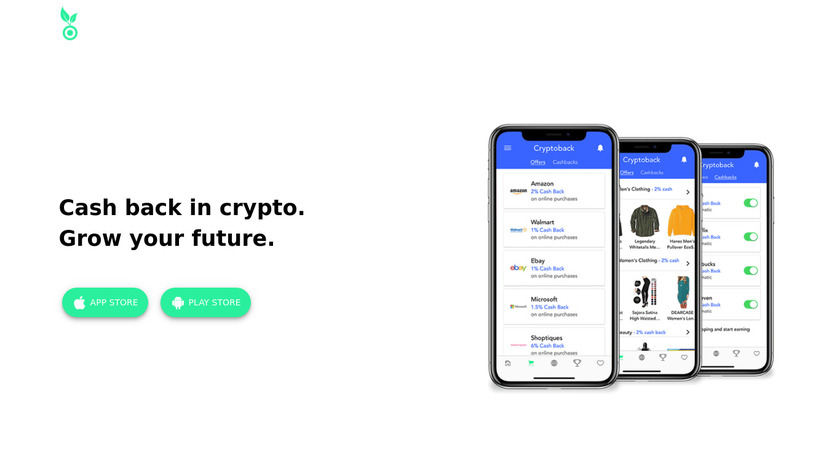 Coinseed Crypto Cash Back Landing Page