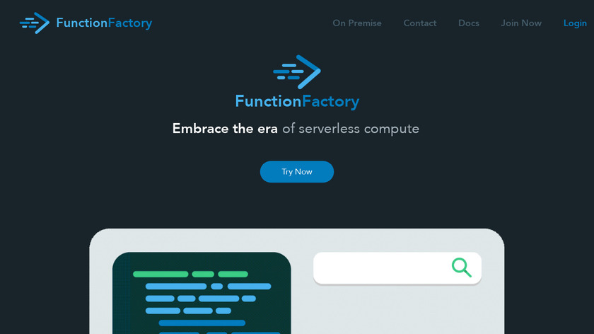 FunctionFactory Landing Page