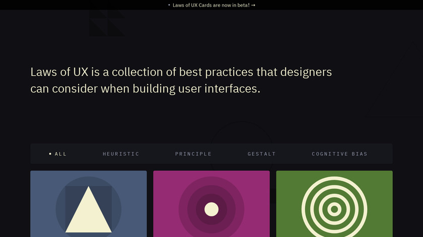 Laws of UX Landing Page