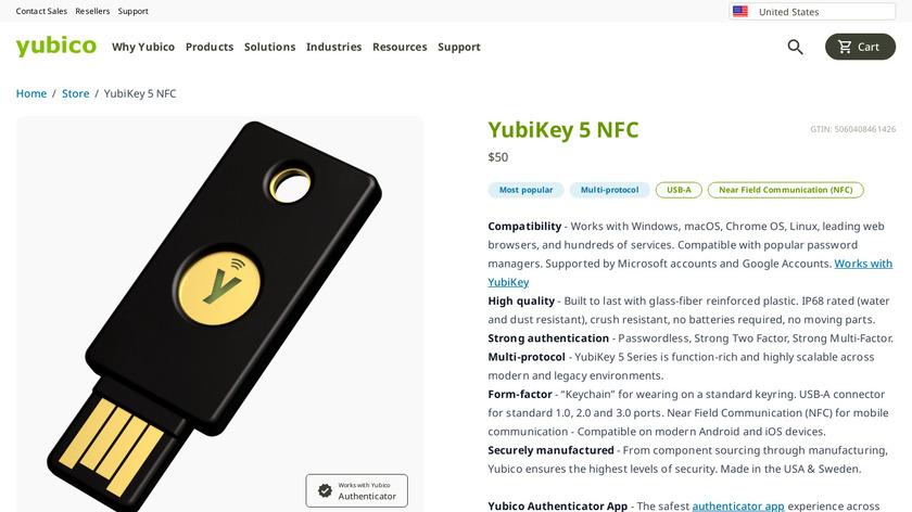 YubiKey NEO Landing Page