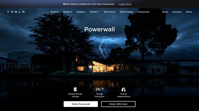 Tesla Powerwall Landing Page