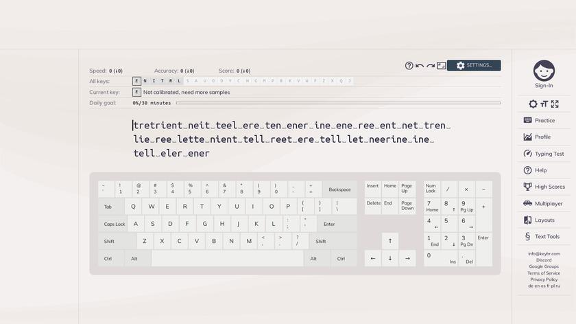 keybr Landing Page