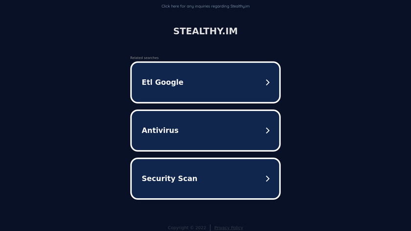 Stealthy Landing Page