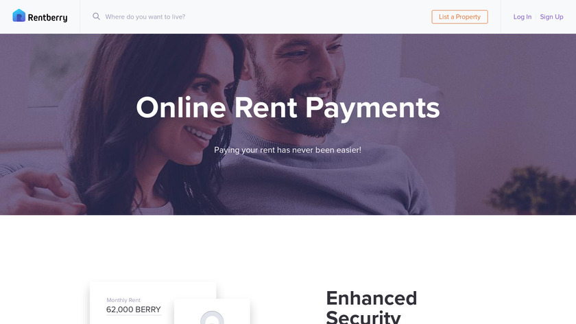 Rentberry Rent Payments Landing Page