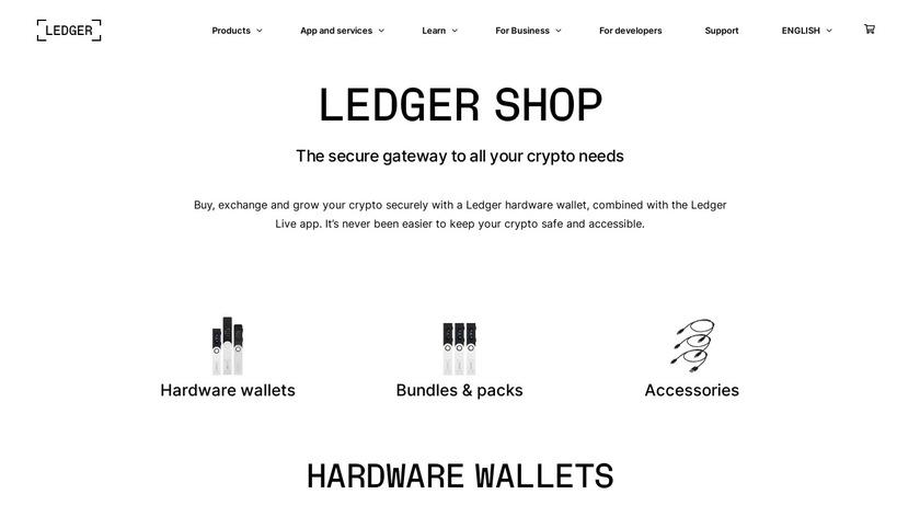 Ledger Nano S Landing Page
