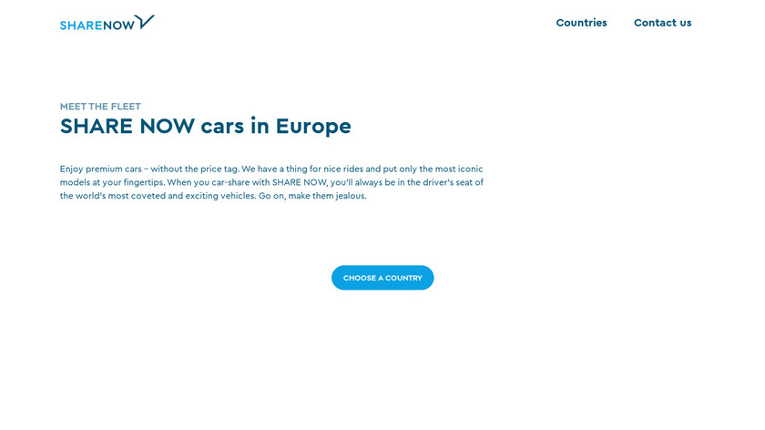 Car2Go Landing Page