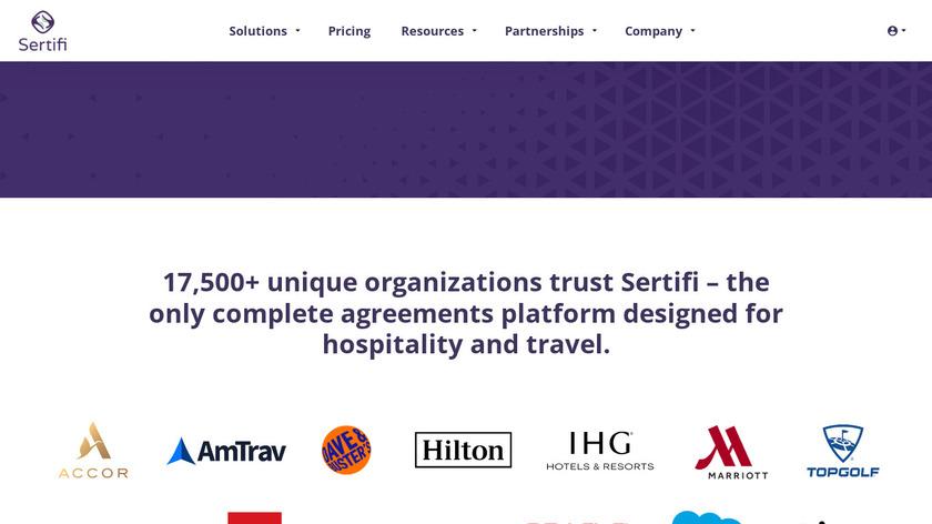Sertifi Landing Page