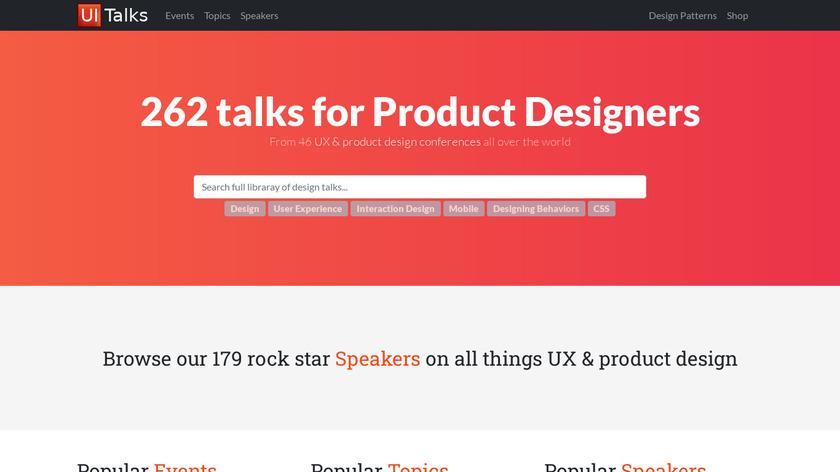 Talks by UI Patterns Landing Page