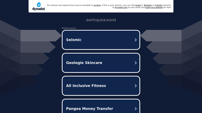 Earthquake Maps by Earthquick Landing Page