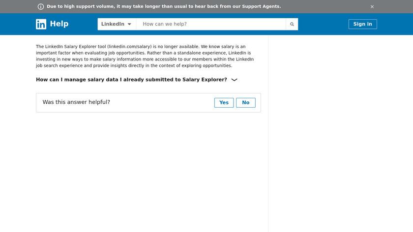 LinkedIn Salary Landing Page